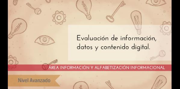 FDCD. Información y Alfabetización informacional. Evaluación de información, datos y contenido digital. (Nivel avanzado) (3ª ed)